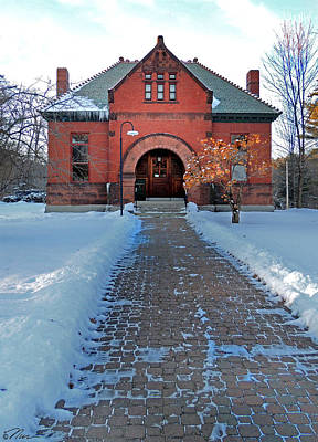 Photograph - Tenney Memorial Library Newbury Vermont by Nancy Griswold