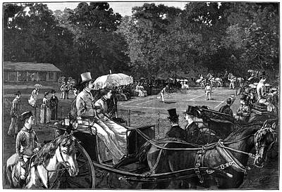 Horse And Buggy Painting - Tennis, 1886 by Granger