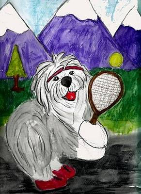 Mixed Media - Tennis Anyone by Cathy Howard