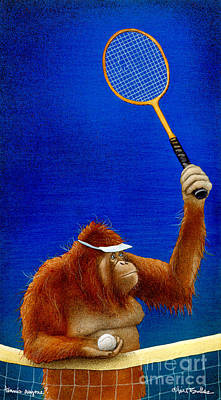Tennis Painting - Tennis Anyone... by Will Bullas