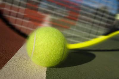 Tennis Ball And Racquet Art Print by Joe Belanger