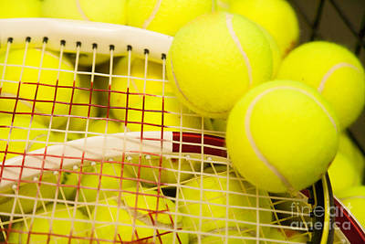 Photograph - Tennis Balls And Racquets. by Don Landwehrle