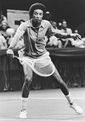 Photograph - Tennis Champion Arthur Ashe by Underwood Archives
