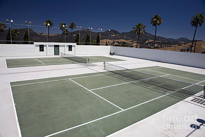 1-war Is Hell - Tennis court Hearst Castle by Jason O Watson