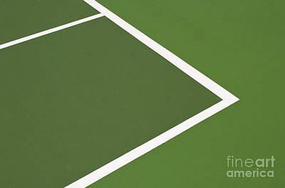 Tennis Court Art Print by Luis Alvarenga