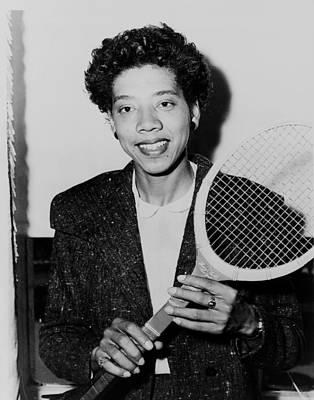 Tennis Great Althea Gibson 1956 Art Print by Mountain Dreams