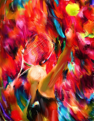 Collectible Sports Art Digital Art - Tennis I by Lourry Legarde