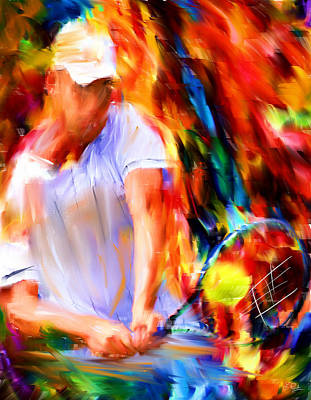 Alley Digital Art - Tennis II by Lourry Legarde