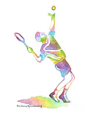Tennis Player Original by Barbara Rosenzweig