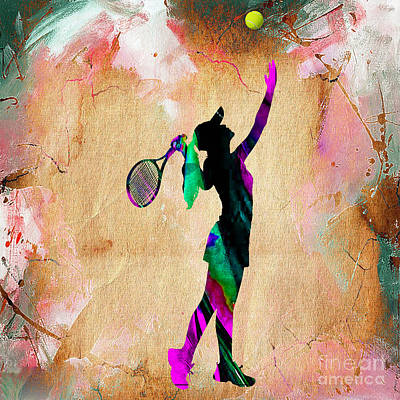 Tennis Player Print by Marvin Blaine