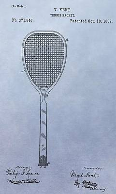 Digital Art - Tennis Racket Patent by Dan Sproul