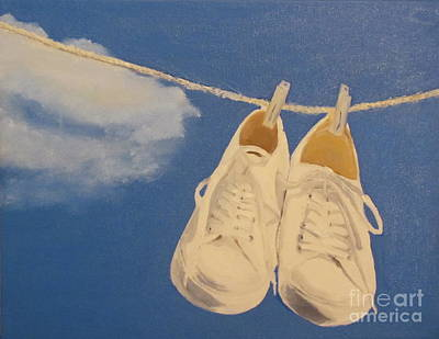Laundry Painting - Tennis Shoes by Jackie Nutter
