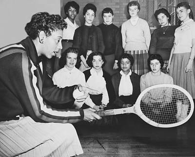 Tennis Star Althea Gibson Art Print by Ed Ford