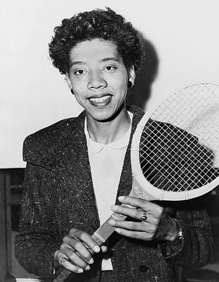 Tennis Star Althea Gibson Art Print by Fred Palumbo