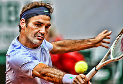 Roger Federer Photograph - Tennis Star Roger Federer by Srdjan Petrovic