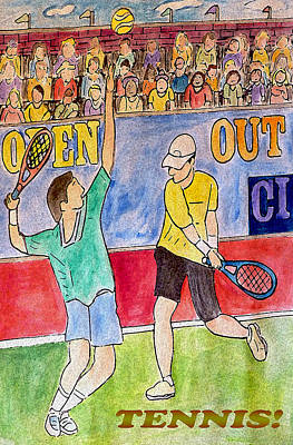 Tennis Strokes Art Print by Monica Engeler