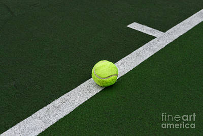 Clay Court Photograph - Tennis - The Baseline by Paul Ward
