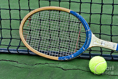 Clay Court Photograph - Tennis - Vintage Tennis Racquet by Paul Ward