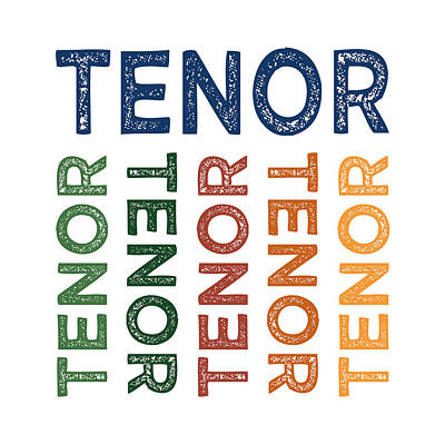 Tenor Digital Art - Tenor Cute Colorful by Flo Karp