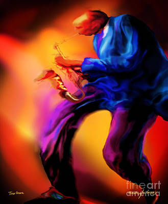 Painting - Tenors Groove by Mike Massengale
