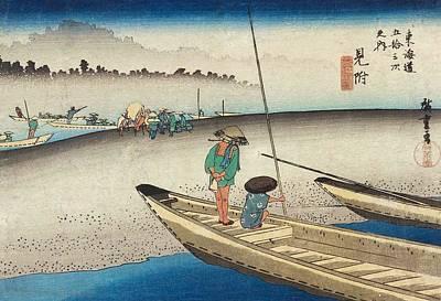 River View Painting - Tenryu River View by Utagawa Hiroshige