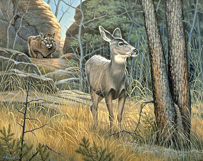 Doe Painting - Tension by Paul Krapf