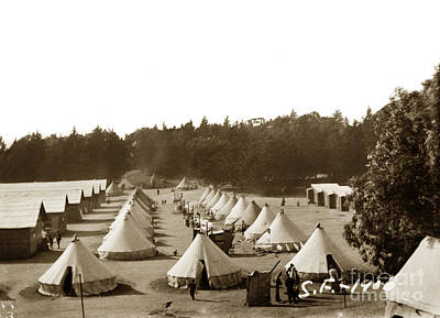 Photograph - Tent City After San Francisco Earthquake And Fire Of April 18 1906 by California Views Mr Pat Hathaway Archives