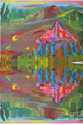 Painting - Tent Reflections by Deborah Montana