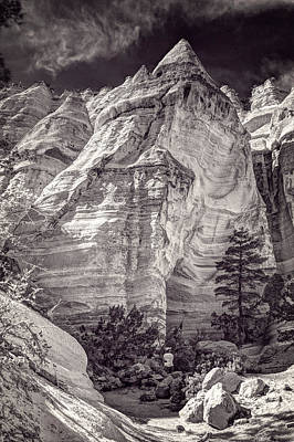 Art Print featuring the photograph Tent Rocks No. 2 Bw by Dave Garner