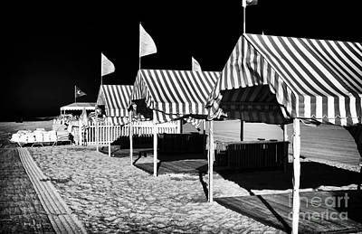 Photograph - Tents At Cape May by John Rizzuto