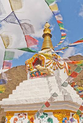 Tenzing Norgay Memorial Stupa Nepal Art Print by Kristin Lau