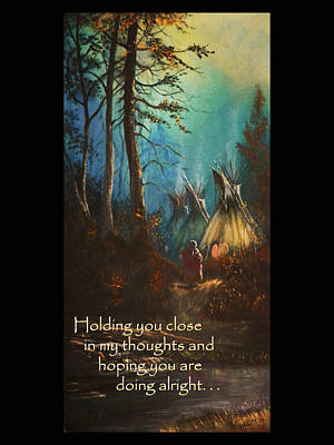Painting - Tepee Woman Sympathy Card by Michael Shone SR