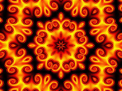 Digital Art - Tequila Sunrise 4 by Rhonda Barrett