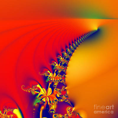 Digital Art - Tequila Sunrise by Renee Trenholm