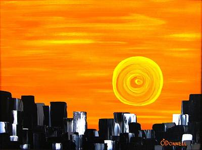 Painting - Tequila Sunset by Stephen P ODonnell Sr