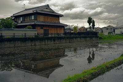 Japan House Photograph - Terada Rice Paddy Estate - Japan by Daniel Hagerman