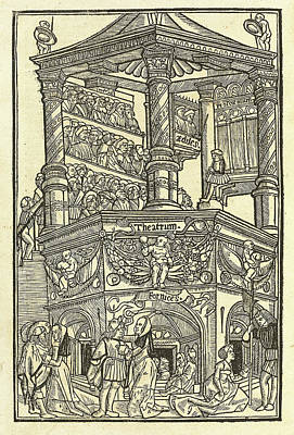 Volumes Drawing - Terence Publius Terentius Afer Author, German 15th Century by Litz Collection