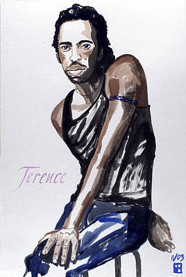 Painting - Terence by Sylvie Proidl