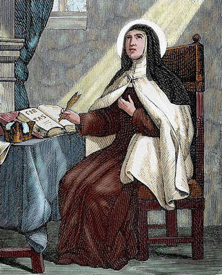 Contemplative Photograph - Teresa Of Avila (1515-1582 by Prisma Archivo