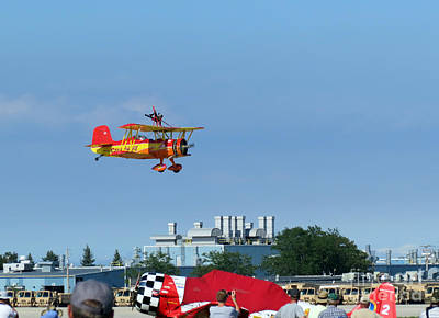 Photograph - Teresa Stokes Wingwalker At Oshkosh 2012 by Ausra Huntington nee Paulauskaite