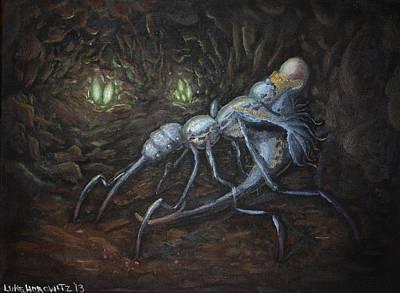 Whimsical Painting - Tergum Cuniculus Parasitus by Luke Horowitz