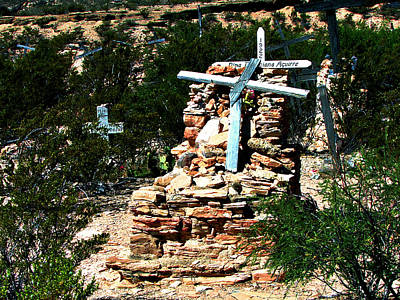 Photograph - Terlingua Cross by Linda Cox