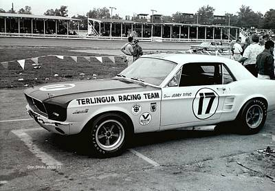 Photograph - Terlingua Mustang At Marlboro Trans Am Race 1967 by Don Struke
