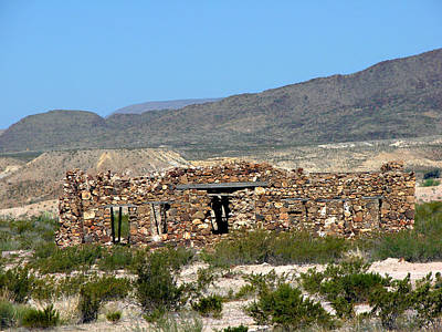 Photograph - Terlingua Texas Ghost Town 1 by Linda Cox