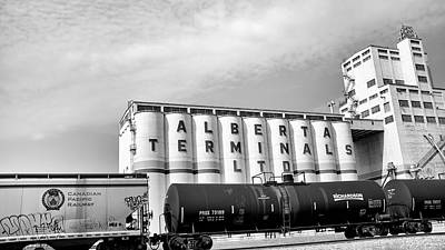 Photograph - Terminal Cargo Bw by Trever Miller