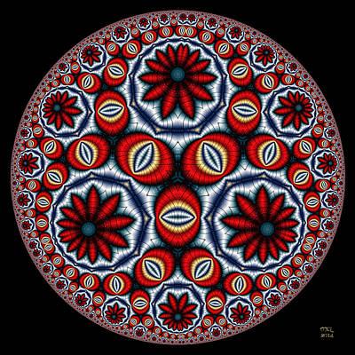 Digital Art - Terminal Eyes - A Hyperbolic Disk by Manny Lorenzo