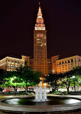 Athletes Royalty-Free and Rights-Managed Images - Terminal Tower Version Three by Frozen in Time Fine Art Photography