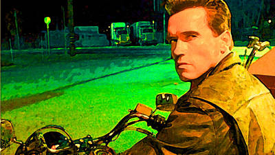 Arnold Schwarzenegger Painting - Terminator Arnold Painting by Parvez Sayed