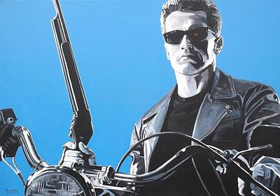 The Terminator Painting - Terminator I'll Be Back by Patrick Killian
