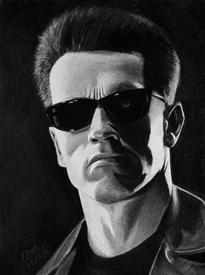 Drawing - Terminator by Vishvesh Tadsare